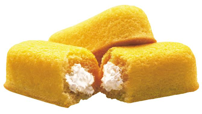 FILE - This 2003 file photo originally released by Interstate Bakeries Corporation shows Twinkies cream-filled snack cakes. Twinkies first came onto the scene in 1930 and contained real fruit until rationing during World War II led to the vanilla cream Twinkie. (AP Photo/Interstate Bakeries Corporation via PRNewsFoto)