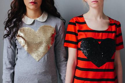 Sequins Heart Shirts