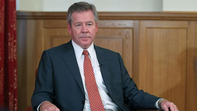Russian Deputy Foreign Minister Gennady Gatilov speaks in an interview to the Associated Press in Moscow, Russia, Thursday, Aug. 23, 2012. Gatilov said Russia is working closely with the Syrian government to make sure its arsenal of chemical weapons remains securely in place. (AP Photo/Mikhail Metzel)