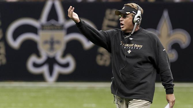 FILE - In this Aug. 12, 2011, file photo, New Orleans Saints defensive coordinator Gregg Williams shouts during a preseason NFL football game against the San Francisco 49ers at the Louisiana Superdome in New Orleans. The NFL reinstated Williams on Thursday, Feb. 7, 2013, after suspending him for his role in the New Orleans' bounty scandal, and the Tennessee Titans have added him to their coaching staff.  (AP Photo/Bill Haber, File)