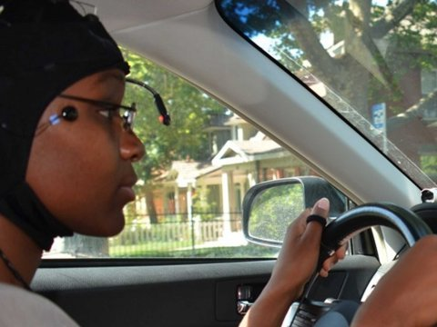 distracted driving study subject