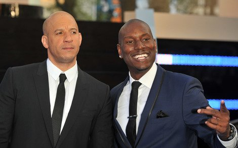 Diesel and Gibson at Fast 6 premiere