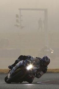 Suzuki rider Sakai of Japan competes during the 34th Le Mans 24-hours motorcycle endurance race in Le Mans