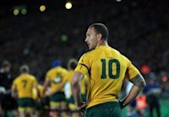 Wallabies flyhalf Quade Cooper during the second Bledisloe Cup Test in August. Cooper has criticised the conservative coaching methods and tactics of Robbie Deans, describing the environment within the Australian team as &quot;toxic&quot;
