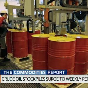 Crude Oil Stockpiles Surge to Weekly Record