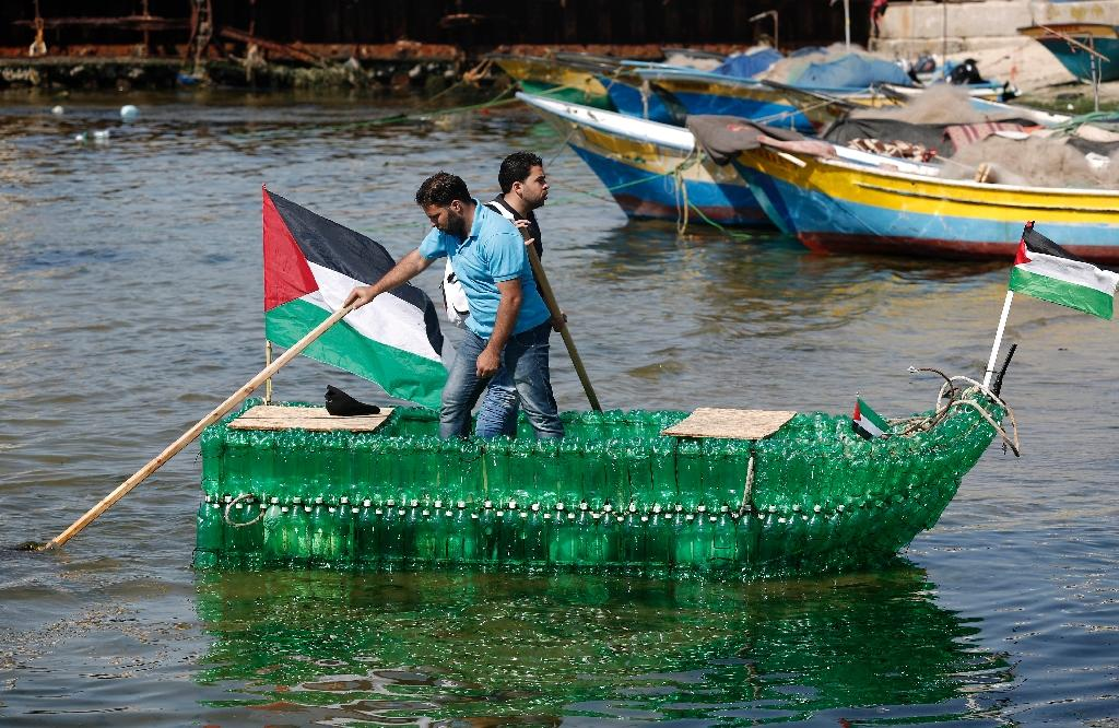 Gaza sailors have a lot of bottle