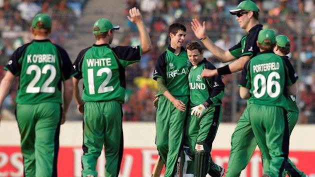 Ireland celebrate a wicket (Reuters)