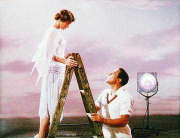 Debbie Reynolds and Gene Kelly in MGM's Singin' in the Rain