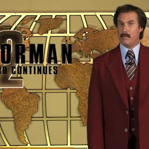 Ron Burgundy appears in over 50 viral videos promoting