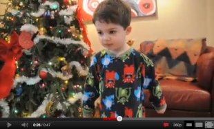Hysterical videos of kids opening presents...