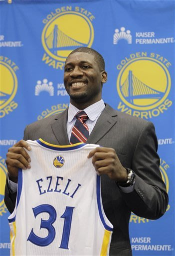 Warriors sign 30th pick Festus Ezeli