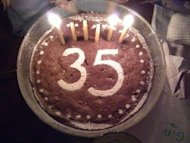 35 years birthday cake