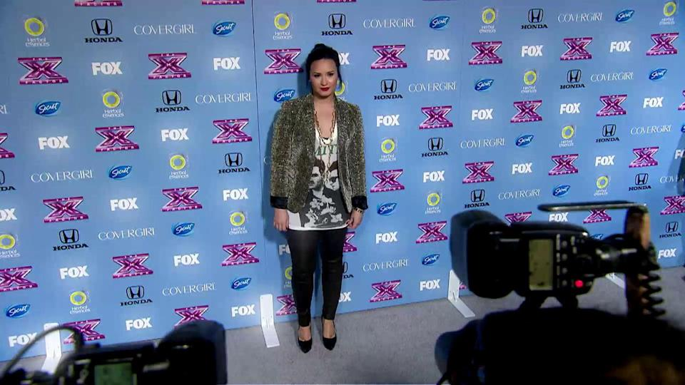 Demi Lovato Leaves 'X Factor' With A Bang