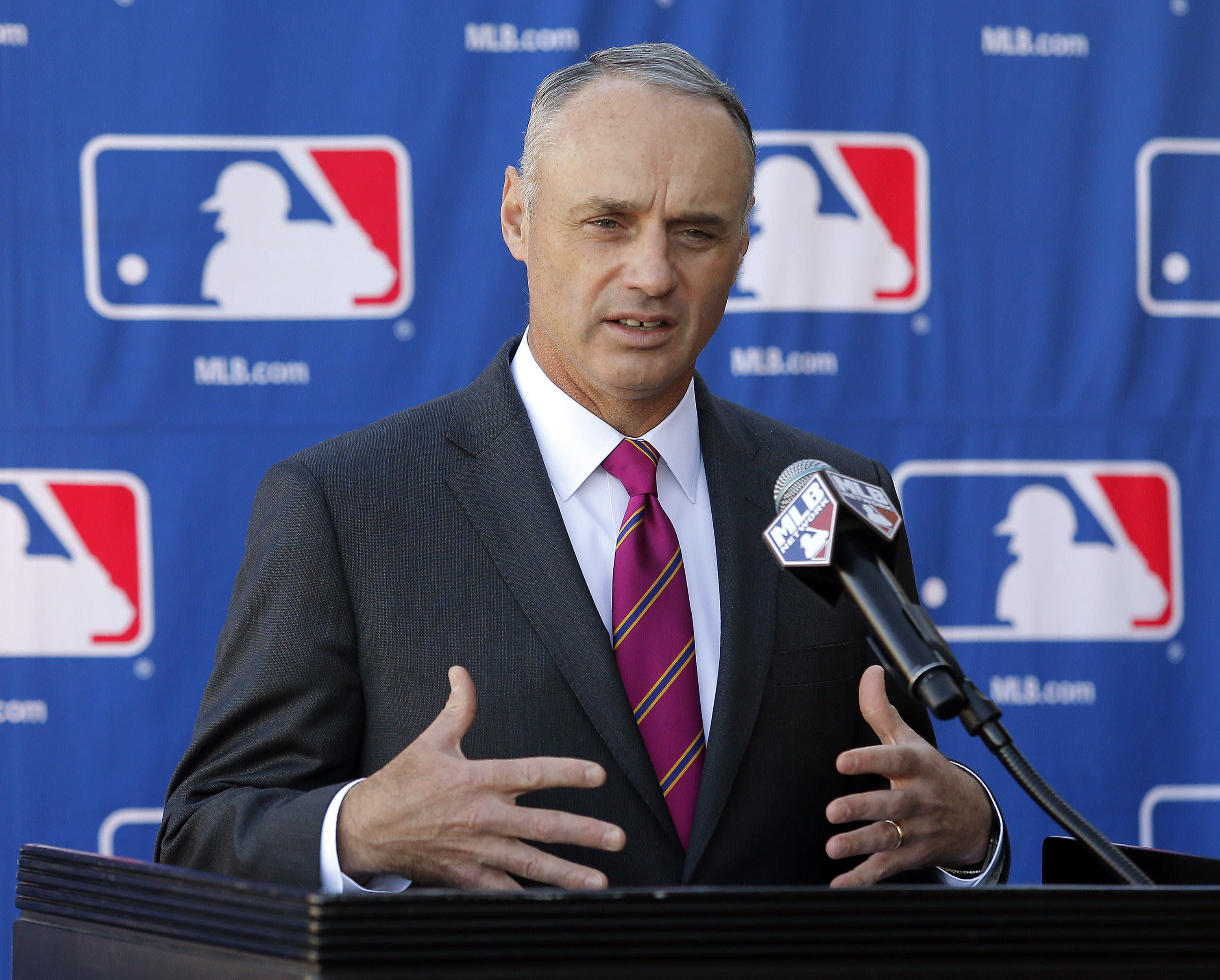 Manfred knows he'll get hit as commish - his name is on ball