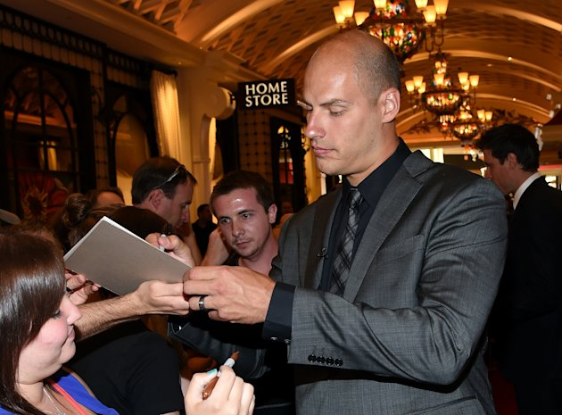 Ryan Getzlaf of the Anaheim Ducks arrives on the red carpet prior to the NHL Awards at the Encore Theater at Wynn, in Las Vegas, on June 24, 2014 (AFP...