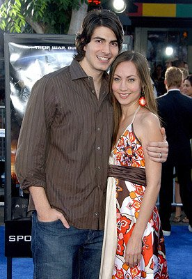 Brandon Routh and Courtney Ford at the Los Angeles premiere of DreamWorks/Paramount Pictures' Transformers