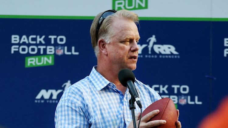 Boomer Esiason is seen during the National Football League Back to Football Run on Friday, Aug. 30, 2012 at Central Park in New York. (John Minchillo/AP Images for NFL)