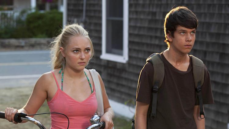 "This publicity photo released by Fox Searchlight shows AnnaSophia Robb, left, and Liam James in a scene from the film, ""The Way, Way Back."" (AP Photo/Fox Searchlight, Claire Folger)"
