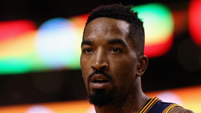Cleveland Cavaliers' J.R. Smith during the game against the Boston Celtics in the first round of the NBA Playoffs at TD Garden on April 23, 2015