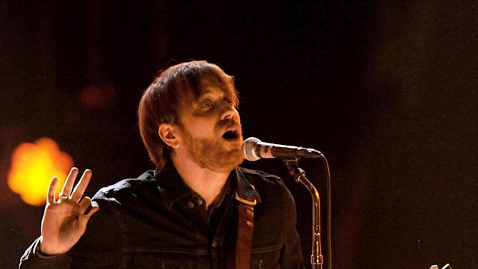 In a Dec. 10, 2011 file photo, Dan Auerbach, lead singer of The Black Keys, performs at Spike TV's Video Game Awards in Culver City, Calif.  The Black Keys, Foo Fighters, Neil Young and Crazy Horse, and others will perform at the Global Festival 2012 on September 29, 2012. (AP Photo/Chris Pizzello, File)