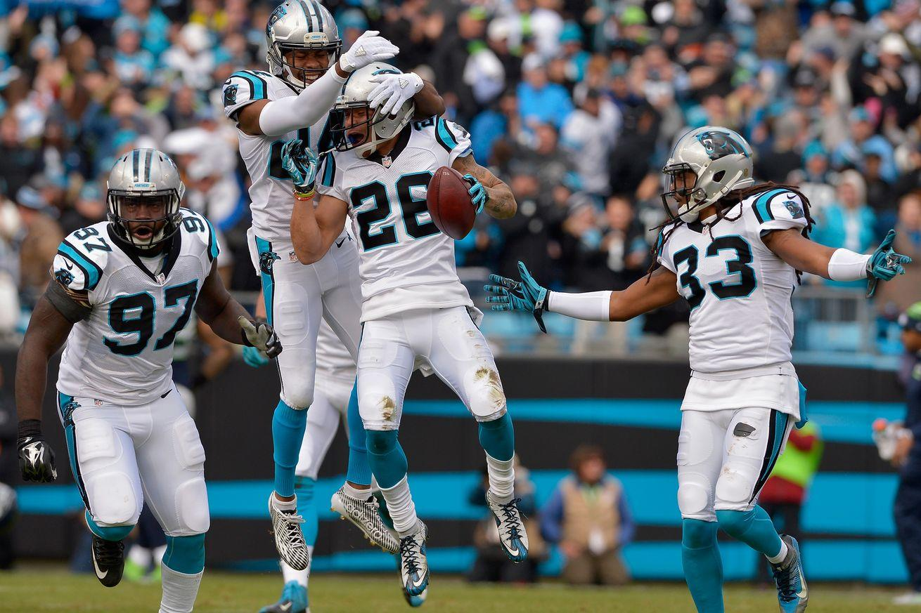 The Panthers secondary mastered the art of thievery