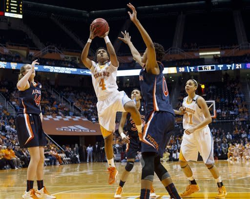 Simmons, No. 11 Tennessee women top Auburn 83-61