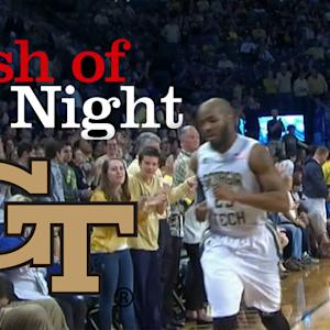 GT's Trae Golden Serves up Daniel Miller a Nasty Pass at the Buzzer