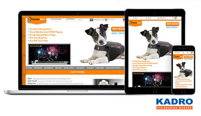 ThunderShirt will now be sold globally with Kadro and Magento Enterprise utilizing a responsive website design.