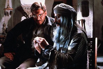 Harrison Ford and Ishaq Bux in Paramount Pictures' Raiders of the Lost Ark