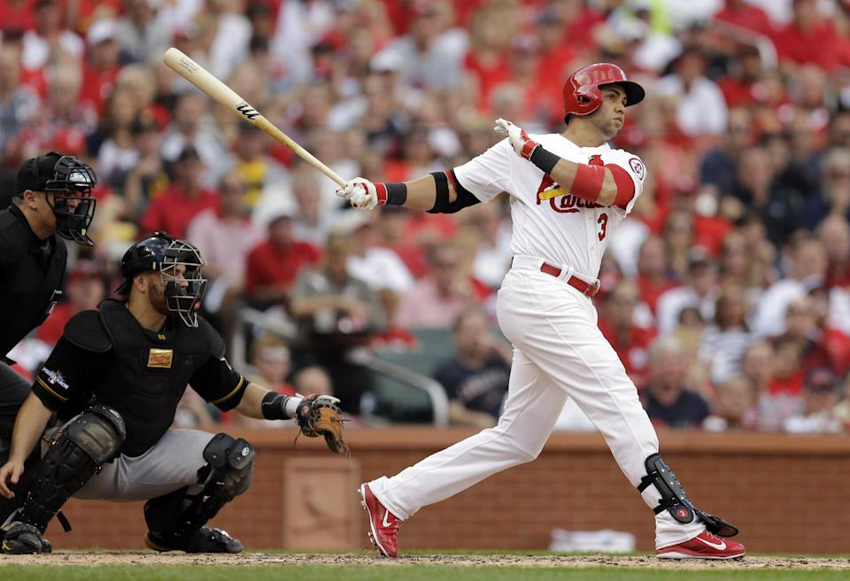 Beltran's HR keys Cards' rout of Pirates in Game 1