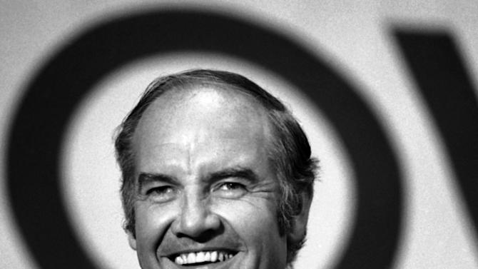 FILE - In this Oct. 4, 1972, file photo, George McGovern speaks to the drug and hospital union delegate assembly, local 1199 at the National Maritime Union Hall in New York. A family spokesman said he passed away peacefully, surrounded by family and life-long friends at early Sunday morning Oct. 21, 2012. He was 90. (AP Photo/Bob Daugherty, File)