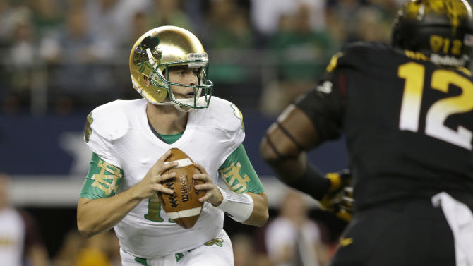 Rees leads Irish to 37-34 Shamrock win over ASU