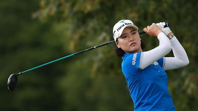 Ryu So-Yeon of South Korea hits her shot during the LPGA Canadian Pacific Women's Open, in London, Ontario, Canada, on August 21, 2014