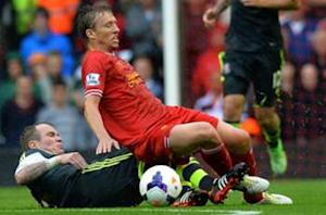Liverpool's Lucas plays down title talk