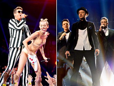 "Miley Cyrus' Team ""Freaking Out"" After MTV VMAs Performance, Justin Timberlake's 'N Sync Bandmates ""Upset"": Top 5 Stories"