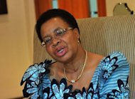 Graca Machel speaks in an interview with AFP in 2011. Human rights campaigner Machel has warned that Mozambique's newly found mineral wealth could be a source of conflict if it does not filter down to the majority of the poverty-stricken people.