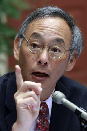 Dr. Steven Chu, Secretary of Energy, speaks during a news conference before the jobs competitiveness listening and action session Wednesday, Aug. 31, 2011, in Portland, Ore. Members of President Barack Obama's jobs and competitiveness council heard ideas from academics and the public on how to curb a shortage of engineers in the United States. The event is one of several being held around the country to guide the work of the council, which was created to recommend policy changes that would spur job creation.  (AP Photo/Rick Bowmer)
