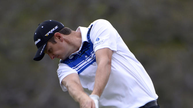 Justin Rose, of England, tees off on the 16th hole during the second round of the Arnold Palmer Invitational golf tournament in Orlando, Fla., Friday, March 22, 2013. (AP Photo/Phelan M. Ebenhack)