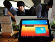 The Galaxy Tab 10.1 is pictured in this file photo. A judge has refused to lift a ban on US sales of the tablet computers as legal brawling continues between the South Korean electronics titan and Apple