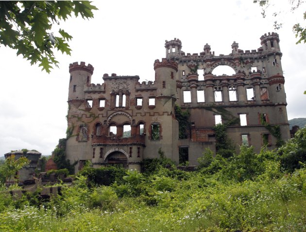 The Bannerman's Island Arsenal is seen on Pollepel Island, N.Y., on Tuesday, June 5, 2012. Though it looks like it was built to withstand battering rams, it was actually a surplus military goods wareh