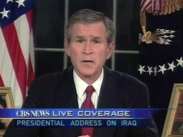 2003: President Bush announces …