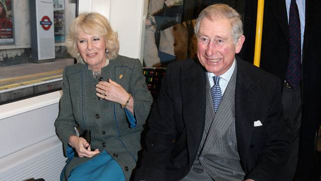Prince Charles and Camilla Surprise 'Tube' Passengers