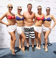 Ryan Lochte swimmer celebrates his Olympic success by hosting a day at Azure Pool inside The Palazzo Resort Hotel & Casino Las Vegas, Nevada - 18.08.12 Credit: (Mandatory): DJDM / WENN.com