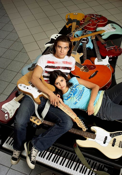 Rob Mayes as Joey and Nina Dobrev as Ally in The American Mall. 