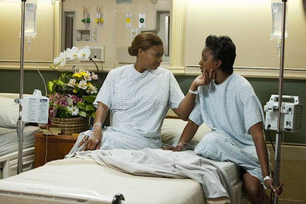 This undated image released by Lifetime shows Queen Latifah as MLynn, from left, Condola Rashad as Shelby in a scene from the Lifetime Original Movie, &quot;Steel Magnolias,&quot; premiering Sunday, Oct. 7, at 9pm on Lifetime. (AP Photo/Lifetime, Annette Brown)