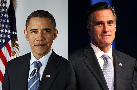 Barack Obama (D) vs. Mitt Romney (R)