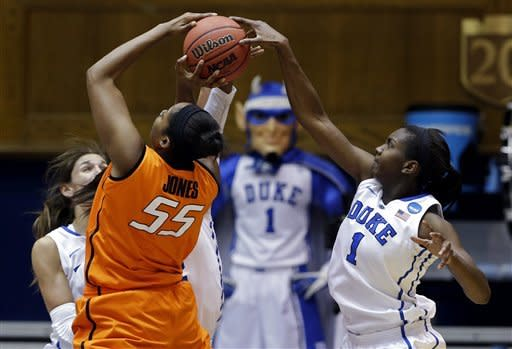 Duke women rally past Cowgirls 68-59 in 2nd round