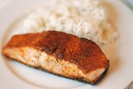 Simple Taco-Spice-Rubbed Salmon