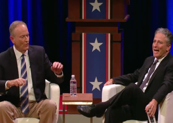 Jon Stewart, Bill O'Reilly Debate: Light on Laughs, Heavy on Political Blah-Blah (Review)