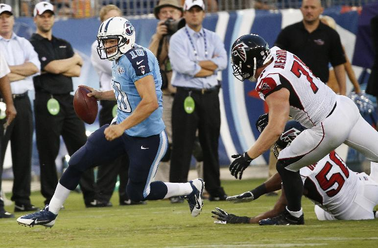 Locker throws TD, Titans beat Falcons 27-16